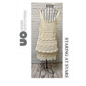 UO Staring at Stars Crochet Dress